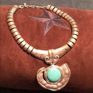 Jewelry - Silver and turquoise necklace